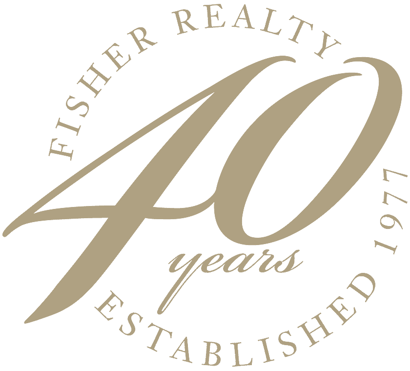 Fisher realty 40th year logo