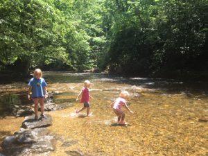 Girls in River